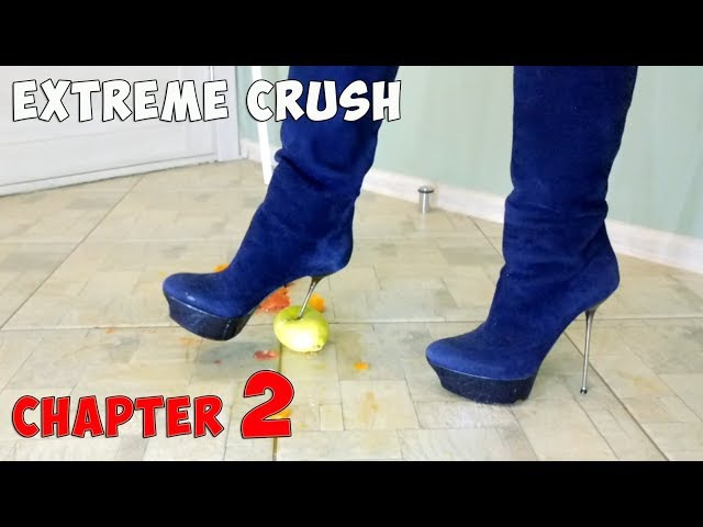 Crush Fetish of Fruits in Platform High Heels Gianmarco Lorenzi Suede Boots Size 37 Chapter 2