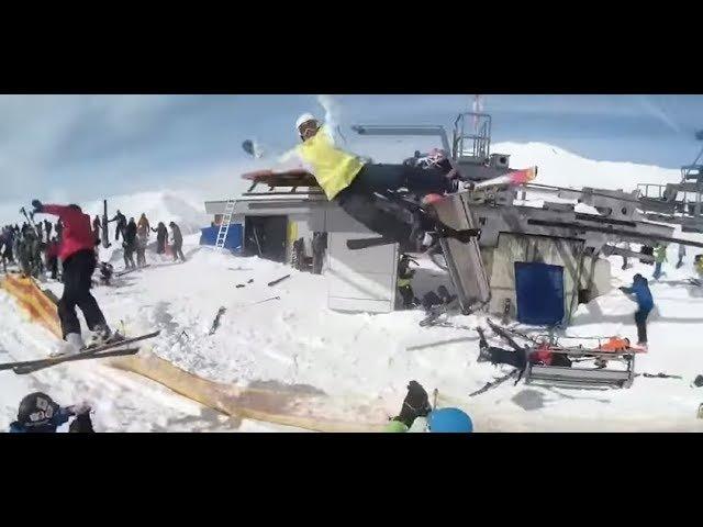 Авария на горнолыжном подъемнике 16.03.18 / Гудаури, Грузия / ski lift accident