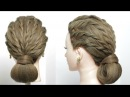 Easy Simple Party Hairstyle Updo For Long Hair Tutorial