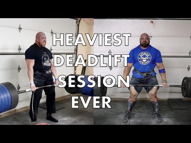HEAVIEST DEADLIFT SESSION EVER | 4X WSM BRIAN SHAW | JF CARON