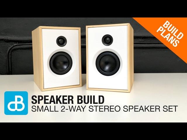 Small 2-Way Stereo SPEAKER BUILD - by SoundBlab