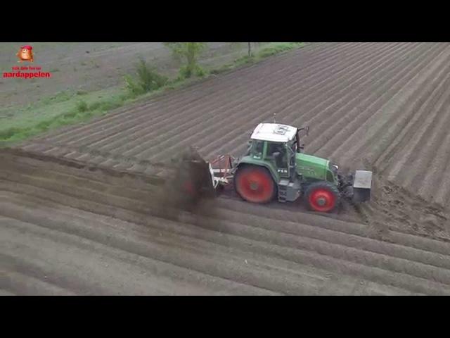 Drainage trencher on GPS elevation maps at van den Borne aardappelen
