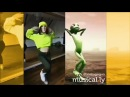 Танцует зелёный человек кто круче/