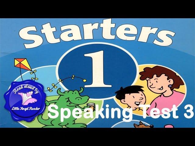 Speaking Test Starters 1 Test 3