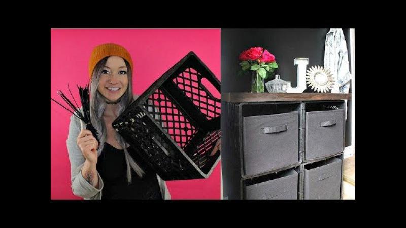 DIY Shoe Storage w Zip Ties Milk Crates | Laci Jane