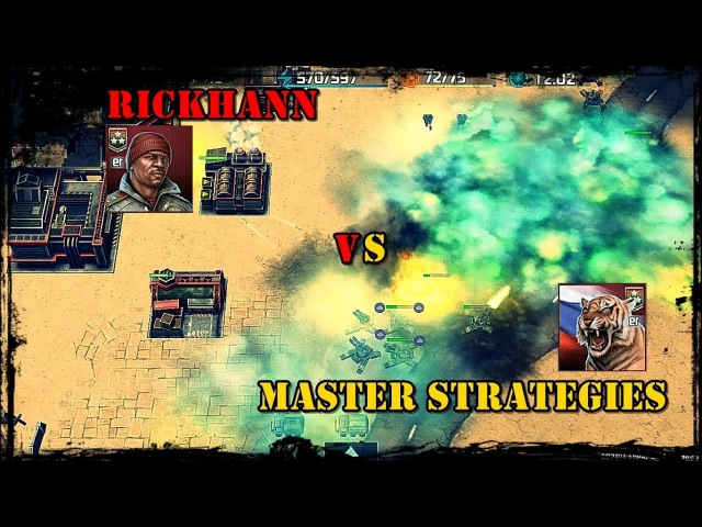 Art of war 3 Master Strategies (19 rank) vs RickHann (19 rank) good battle 💣💣💣