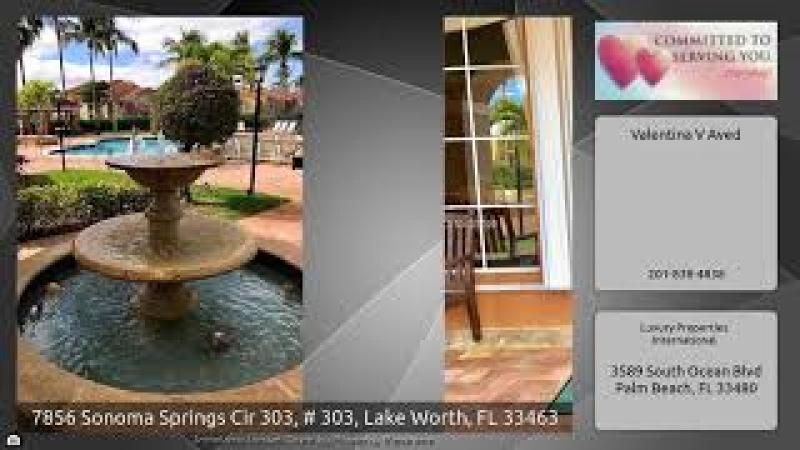 7856 Sonoma Springs Cir 303, 303, Lake Worth, FL 33463