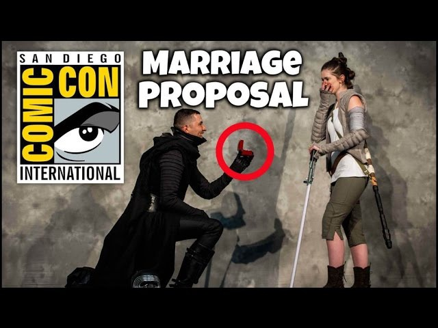 Kylo Ren Proposes to Rey at Comic Con San Diego Star Wars Wedding and Marriage