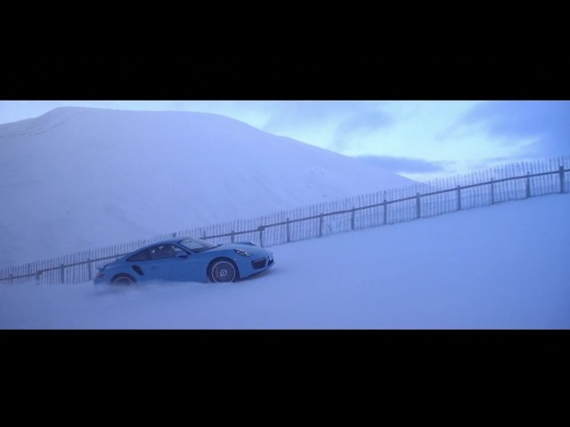 All-wheel drive taken to new heights. 911 Turbo S on a ski slope.