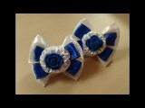Бантики в школу с цветком Канзаши МК / Bows to school with a Kanzashi flower MK