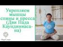 Как укрепить мышцы спины и пресса с помощью асаны Дви Пада Каундиниасана Йога онлайн