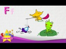 F is for Fish, Fox, Frog - Letter F - Alphabet Song | Learning English for kids
