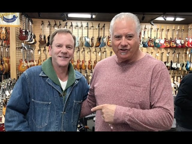 Kiefer Sutherland stops by Norman's Rare Guitars