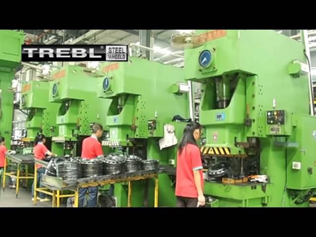 Производство штампованных дисков Trebl.