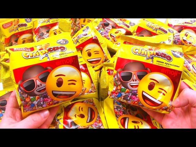 Новые СЮРПРИЗЫ Круассаны ЧИПИКАО Фишки Стикеры ЭМОДЖИ UNBOXING SURPRISES CHIPICAO Emoji