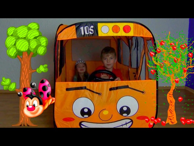Wheels on the bus song Adventure Tayo little school bus Cute baby pretend play Funny story