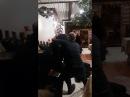 Драка пьяных буянов с ОВО в ресторане Олешня
