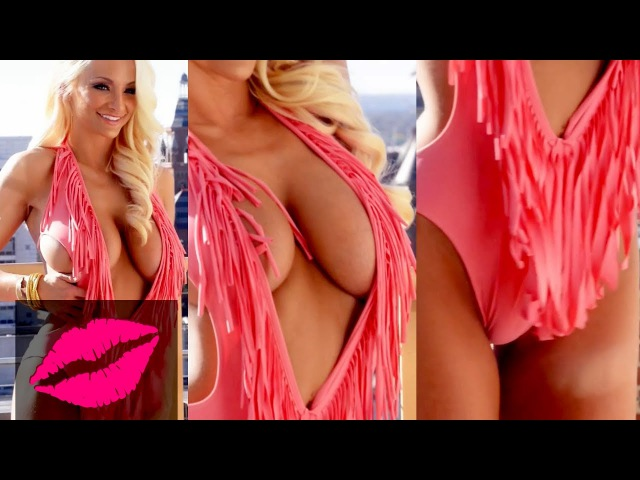 Playboy model Lindsey Pelas Pulls Boobs Out of Skimpy Swimsuit HD