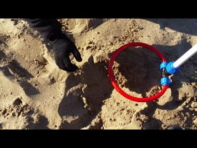 Металлоискатель пират пляжный коп на реке Волга продолжение