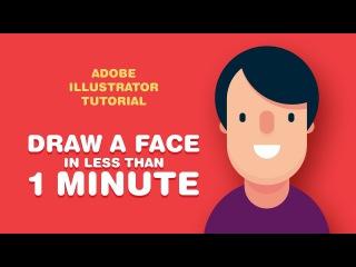 Как нарисовать лицо персонажа меньше, чем за 1 минуту