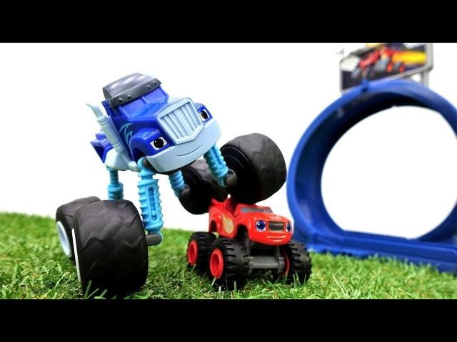 Vidéo de voitures Crusher ou Blaze. Qui est le plus vite