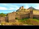 Судак, Крым аэросъемка. Генуэзская крепость.  Черное море, пляж