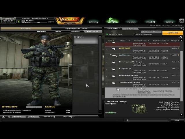 Открываем стартовые наборы новичка на Combat Arms EU Classic