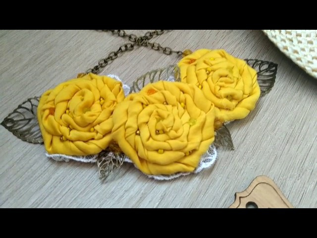 Роза из ткани (джинса, хлопка, штапеля) своими руками без использования клея