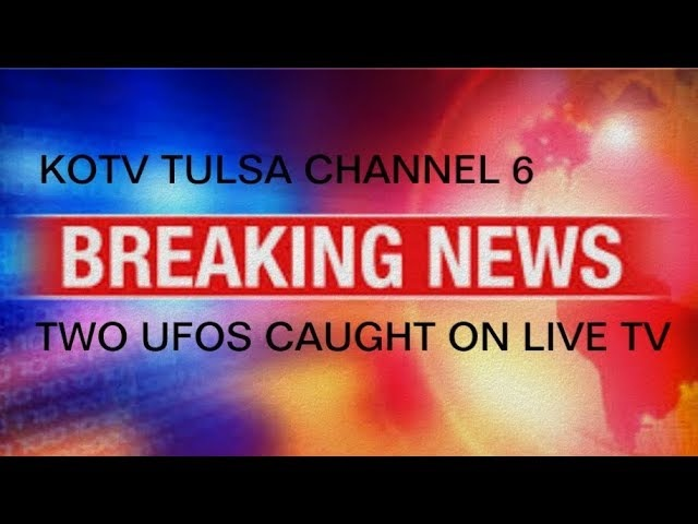 TWO UFOS CAUGHT ON LIVE NEWS REPORT OUT OF TULSA, OKLAHOMA
