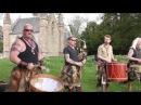 Scottish tribal band Clann an Drumma performing Bloodline album mix at Scone Palace Scotland