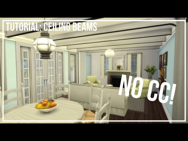 The Sims 4 Building Tutorial: Ceiling Beams | Nick Sims