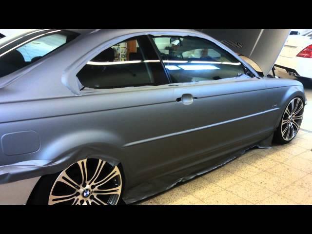BMW E46 Folierung Grau matt