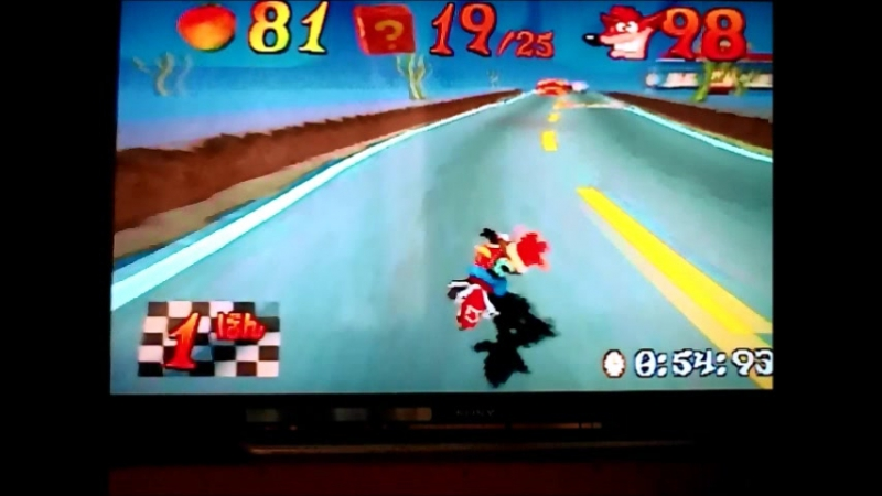 CB3(NTSC-J).Time Trial.Road Crash.1:11:83.Очень хорошо.