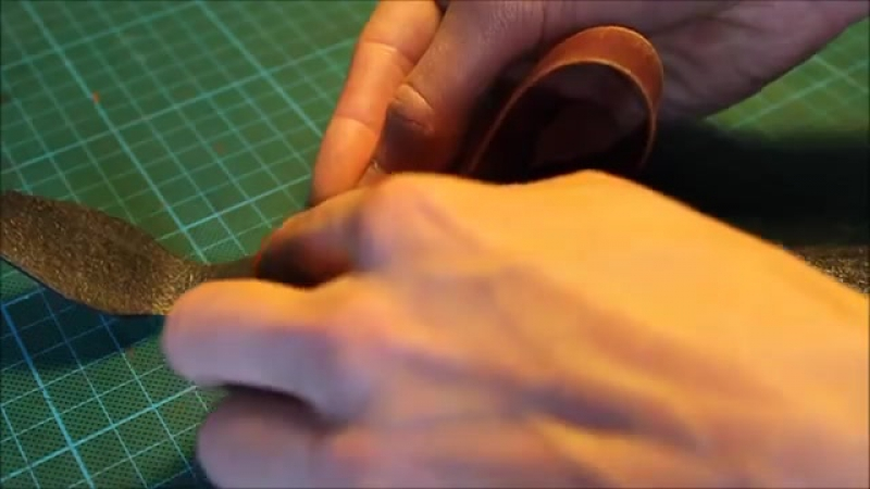 Making a Raised Leather Martingale Dog Collar