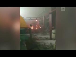 Первые минуты после взрыва на Якутской ГРЭС
