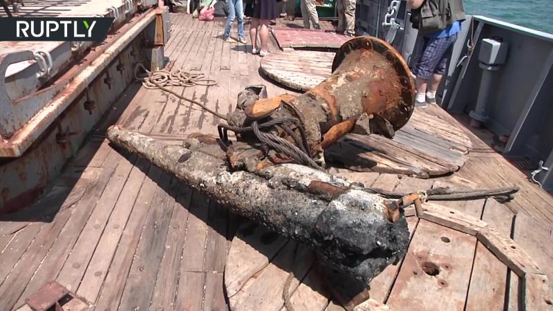 Уникальную пушку времён Первой мировой войны подняли со дна Керченского пролива