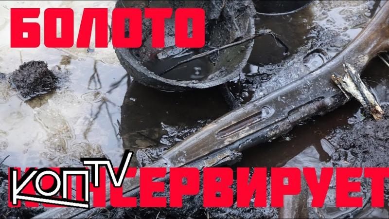 Нашли оружие и солдат в болоте прямо под Льдом! Found weapons in the the swamp right under the ice!