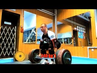 Становая тяга с трэп-грифом 220-240 кг и жим лежа 155-165-175 кг