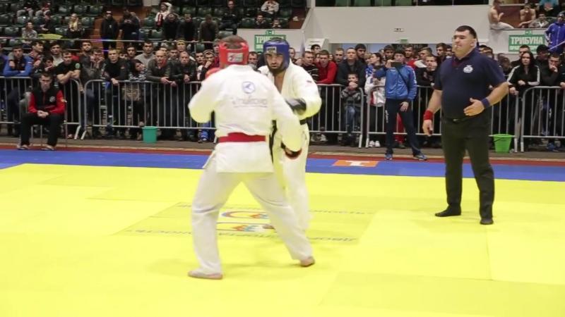 2017 полуфинал -80 кг ГРИДНЕВ - ГОГАМОВ Рукопашный бой Чемпионат России 2017 Кал