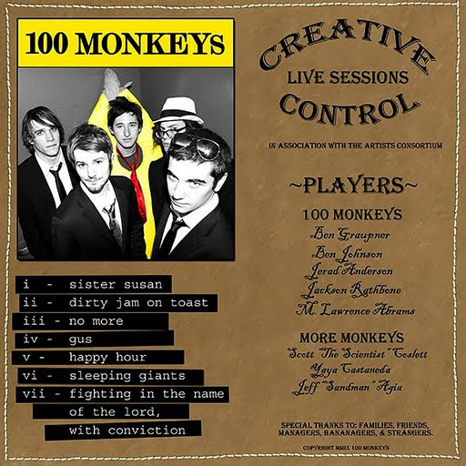 100 Monkeys альбом Creative Control: Live Sessions