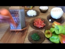 Перец фаршированный рисом и овощами. Pepper stuffed with rice and vegetables
