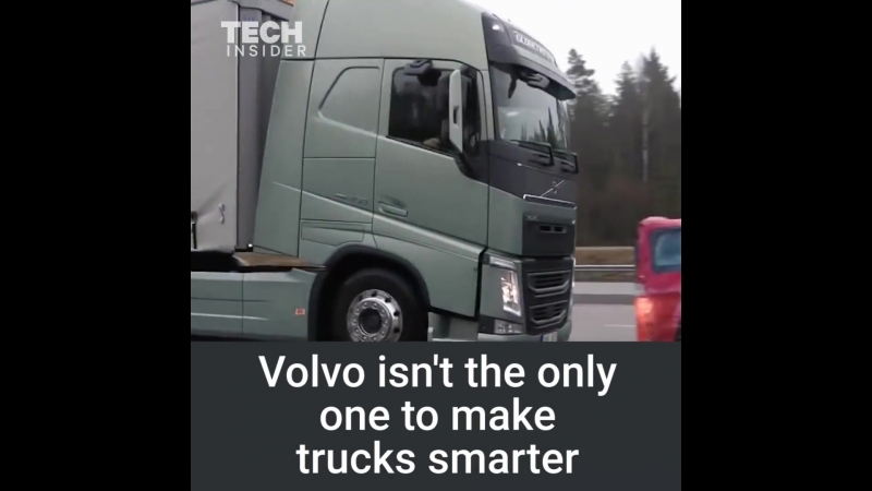 These Volvo Trucks can automatically stop on a dime.