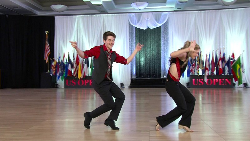 15 Year Old Swing Dancers Ryan Boz and Alexis Garrish win FIRST PLACE 2015 US OPEN Young Adult