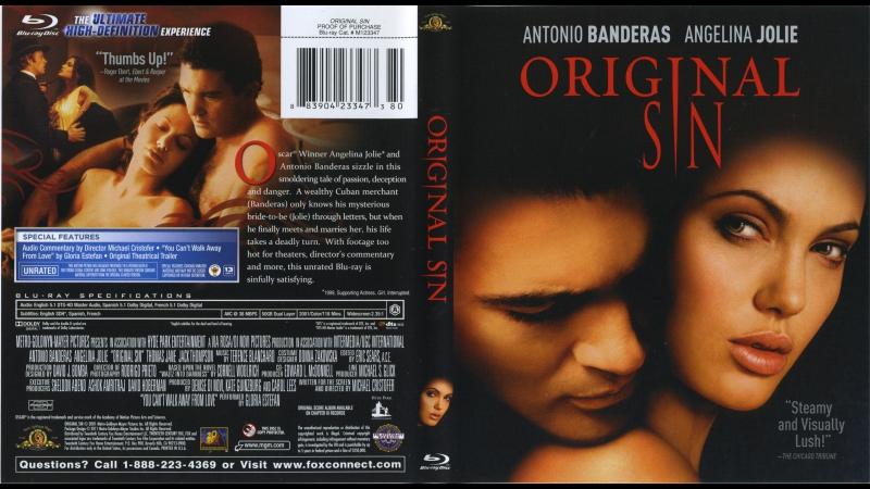 Соблазн / Первородный грех / Original Sin. 2001. Перевод Юрий Живов. VHS
