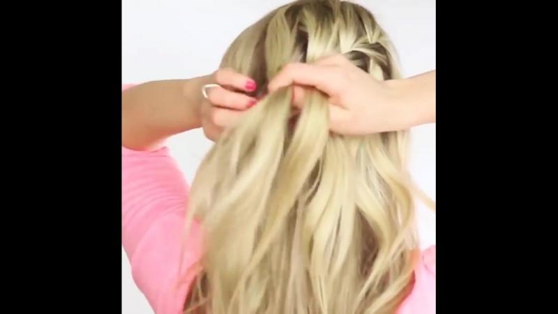 Видео инструкция как заплести косу самой себе. » Freewka.com - Смотреть онлайн в хорощем качестве