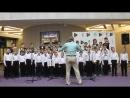 «У дороги чибис» исполняют сводный хор капеллы мальчиков Орлята и Ансамбль юношей Vita Nova
