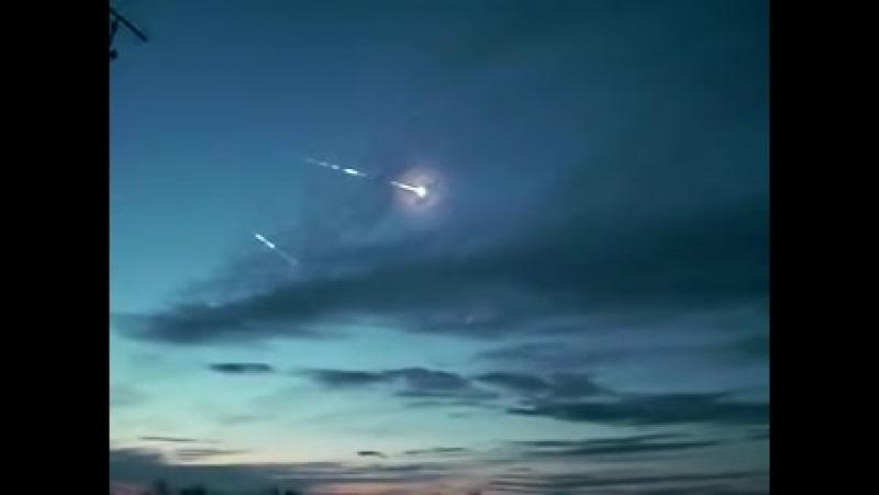Полет боеголовок МБР над полигоном Кура