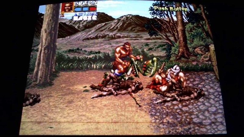 Arcade Classics on CRT tv (mame emulation) : Golden Axe THe Revenge Of Death Adder