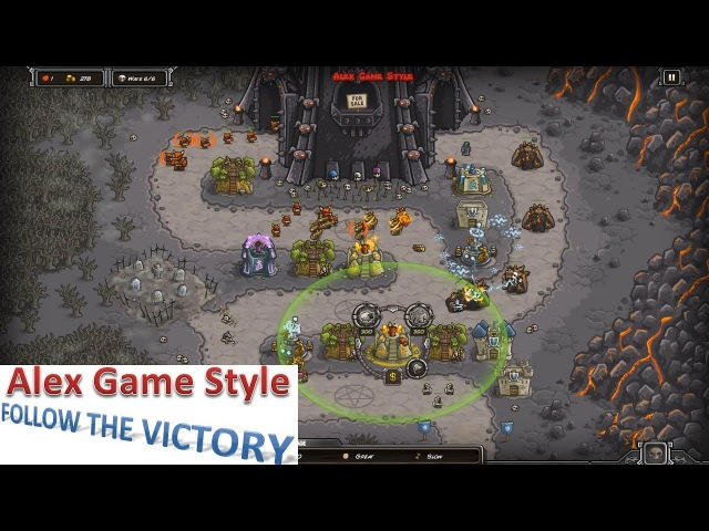 Kingdom Rush HD (Level 12 The Dark Tower) Heroic || Hero - King Denas