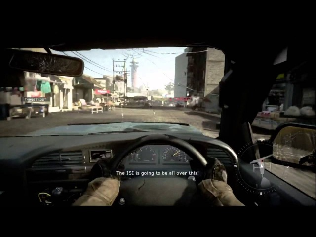 Medal of honor warfighter Car Chase ( hot pursuit mission ) by need for speed burnout team
